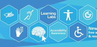 Learning Labs' accessibility banner